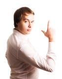Jeune garçon de beauté dans une chemise de rose Photo libre de droits