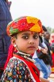 Jeune garçon de Rajasthani Photo stock