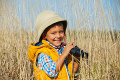 Jeune garçon de safari Image stock