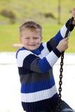Jeune garçon en stationnement Image libre de droits