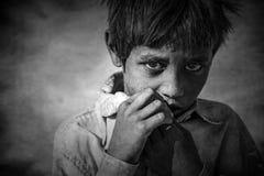 Jeune garçon indien de chameau, désert de Thar, Ràjasthàn photos libres de droits