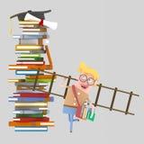 Jeune garçon portant une échelle illustration libre de droits