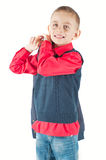 Jeune garçon posant dans le studio Image stock