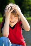 Jeune garçon très étonné Images libres de droits