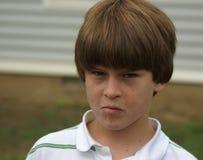 Jeune garçon - visage drôle Photos stock