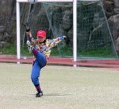 Jeune gardien de but Images libres de droits