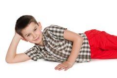 Jeune garçon joyeux Image stock