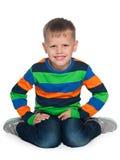 Jeune garçon joyeux de mode Image libre de droits