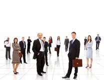 Jeune gens d'affaires attirant Image stock