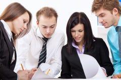 Jeune gens d'affaires dans le bureau Image libre de droits