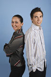 Jeune gens d'affaires heureux Images stock