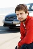 Jeune gestionnaire de véhicule Photographie stock libre de droits