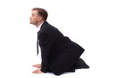 Jeune gestionnaire et yoga image libre de droits