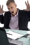 Jeune gestionnaire frustrant image stock