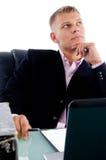 Jeune gestionnaire regardant la partie supérieure photos stock