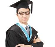 Jeune graduation asiatique d'homme Photos stock