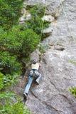 Jeune grimpeur Images libres de droits
