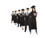 Jeune groupe d'étudiants de troisième cycle photographie stock libre de droits