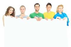 Jeune groupe de personnes heureux Images libres de droits