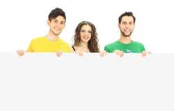 Jeune groupe de personnes heureux Image libre de droits