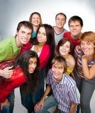 Jeune groupe de personnes heureux Photos libres de droits