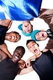 Jeune groupe frais d'adolescents de gratte-cul. photos stock