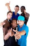 Jeune groupe frais d'années de l'adolescence Image libre de droits