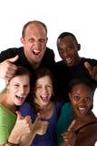 Jeune groupe multiracial frais Image stock