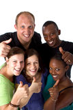 Jeune groupe multiracial frais Images stock