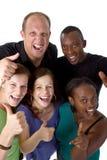 Jeune groupe multiracial frais Photographie stock libre de droits