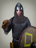 Jeune guerrier des Moyens Âges jeune Photographie stock