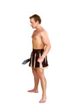 Jeune guerrier masculin avec un bouclier Photo stock