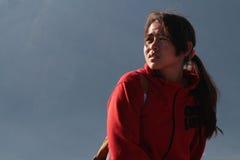 Jeune guide sur le volcan Batur Photo libre de droits