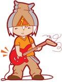 Jeune guitariste illustration de vecteur