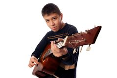 Jeune guitariste Photographie stock