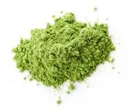 Jeune herbe d'orge ou de blé, superfood de detox, fond blanc Photos libres de droits