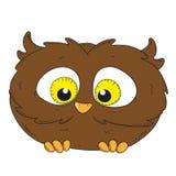 Jeune hibou de personnage de dessin animé Photographie stock