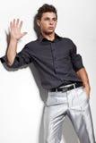 Jeune homme à la mode Image libre de droits
