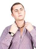 Jeune homme à la mode bel. Photos stock