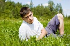 Jeune homme. Image libre de droits