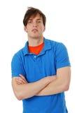 Jeune homme arrogant photo stock