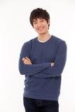 Jeune homme asiatique attirant photographie stock