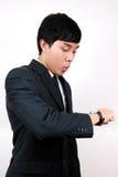 Jeune homme asiatique d'affaires. Photographie stock