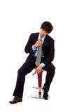Jeune homme asiatique d'affaires avec la tension Images libres de droits