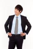 Jeune homme asiatique de sourire d'affaires Image stock