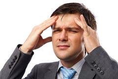 Jeune homme avec la migraine Image libre de droits