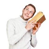 Jeune homme avec le cadeau Photographie stock libre de droits