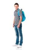 Jeune homme avec le sac image stock