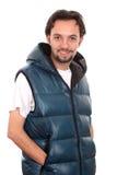 Jeune homme beau posant dans des vêtements sport. Photo stock