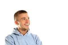 Jeune homme bel avec un sourire avec du charme Photographie stock libre de droits